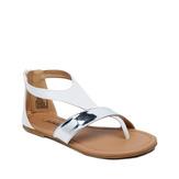 White T-Strap Sandal