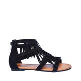 Black Fringe Sandal