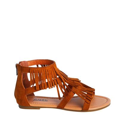 Brown Fringe Sandal