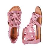 Pink Fringe Sandal