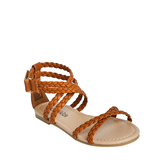 Brown Braided Strap Sandal