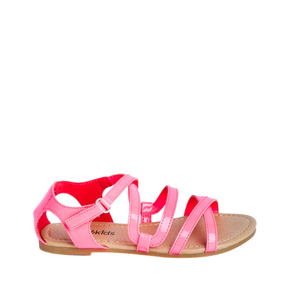 Neon Pink Patent Sandal