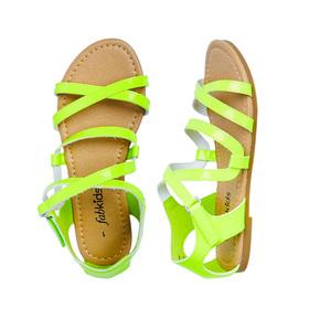 Neon Patent Sandal