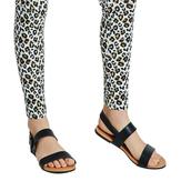Black Two-Strap Sandal