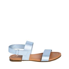 Silver Two-Strap Sandal