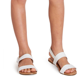 White Two-Strap Sandal