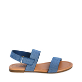 Chambray Two-Strap Sandal