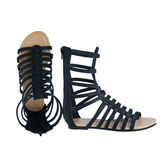 Black Tall Gladiator Sandal