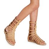 Tan Tall Gladiator Sandal