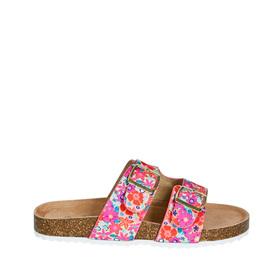 Floral Track Sole Slide Sandal