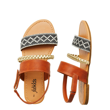 Three-Strap Sandal