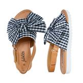 Gingham Bow Sandal