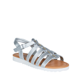 Silver Track Sole Sandal