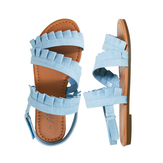 Ruffle Chambray Sandal