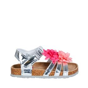 Silver Flower Sandal