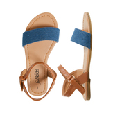 Chambray Ankle Strap Sandal