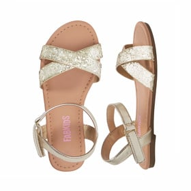 Photo of Glitter Cross Strap Sandal