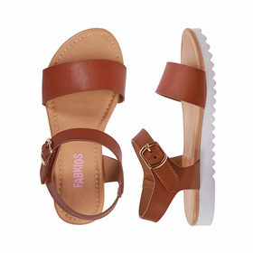 Photo of Track-Sole Ankle Strap Sandal