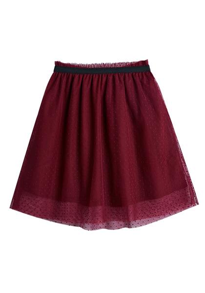 Black Hi-Low Tulle Skirt
