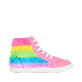 Rainbow Fur Sneaker