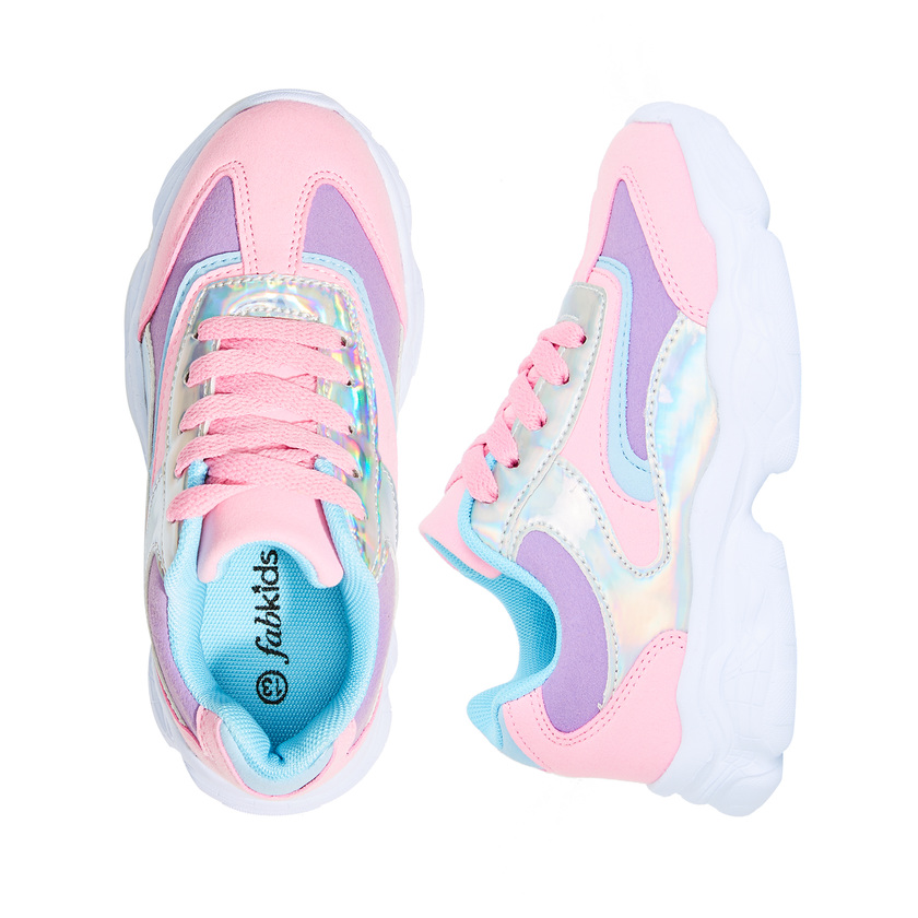 Holographic Colorblock Athletic Sneaker