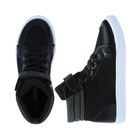 Photo of Lace Up Pieced High Top Sneaker