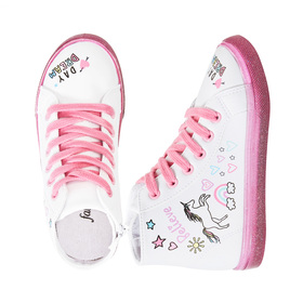 Photo of Glitter Sole Doodle High Top Sneaker