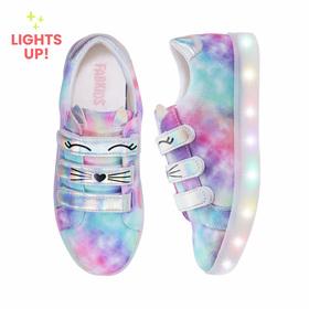 Photo of Tie Dye Light Up Cat Sneaker