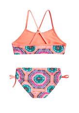 Neon Geo Flounce Bikini