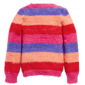 Striped Fuzzy Sweater