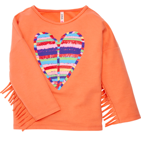 Heart Fringe Dolman Top