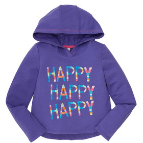 Happy Hooded Top