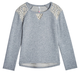 Lace Shoulder Sweatshirt