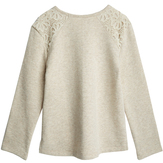 Lace Shoulder Sweatshirt
