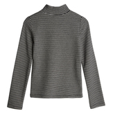 Mock Neck Rib-Knit Top