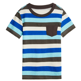 Blue Stripe Pocket Tee