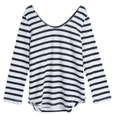 Stripe Scoop Back Tee