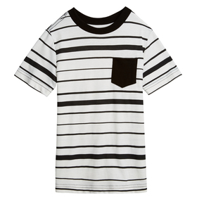 Black Stripe Pocket Tee