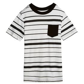 Black Stripe Pocket Tee