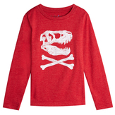 Red Dino Skull Tee