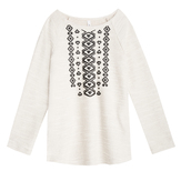 Tribal Print French Terry Tunic