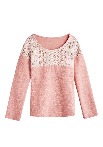 Lace Panel Sweatshirt
