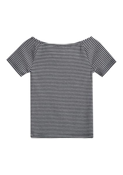 Rib-Knit Striped Top