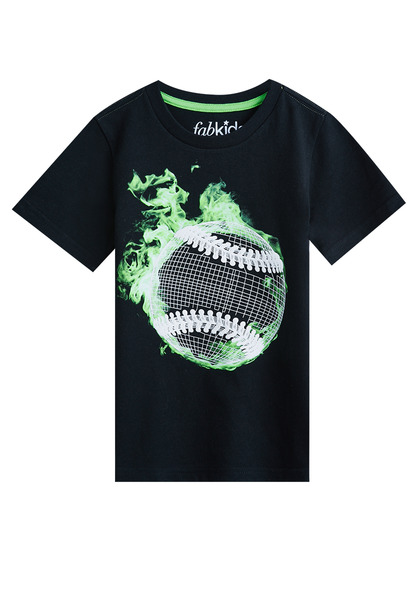 Flaming Baseball Tee