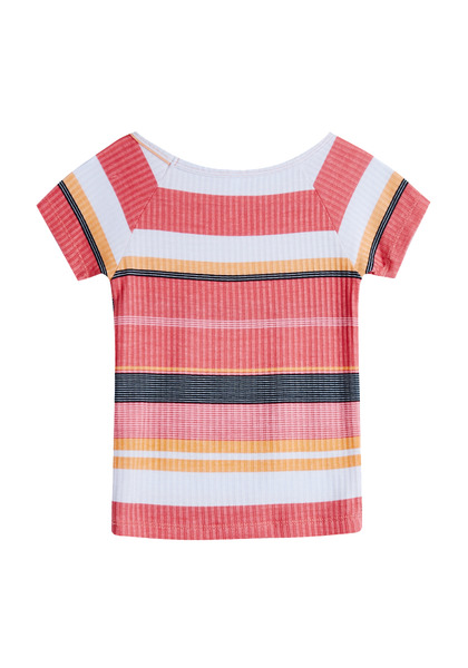 Striped Rib-Knit Top