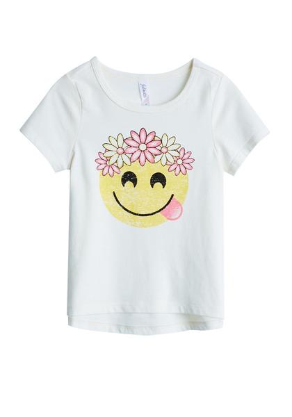 Flower Crown Emoji Tee