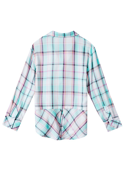 Plaid Split Back Shirt