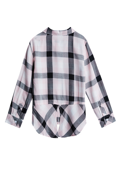 Plaid Split Back Shirt