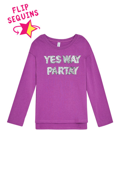 Yes Way Partay Sequin Tee