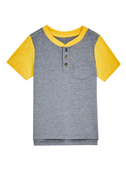 Colorblock Pocket Henley